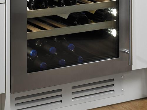 Ventilatierooster (Wit) voor op eigen keukenplint
